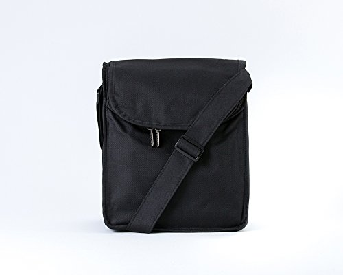 Artecobags Original Insulated Messenger Style Lunch Tote Bag - Solid Black