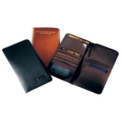 Brown Andrew Philips Airline Ticket/Passport Case
