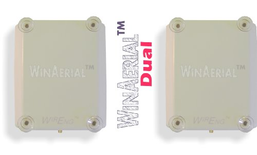 Winaerial™ Ultra Wide Band Personal 3G & 4G On-Window Dual Antenna For Clear 4G Usb Modem (Sierra Wireless 250U)