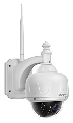 FDT Outdoor PTZ (4x Optical Zoom) HD 720P WiFi IP Camera (1.0 Megapixel), IP65 Weatherproof, Wireless Security Camera FD7903 (White), Pan/Tilt/Zoom, Night Vision - 65ft (20meters) (Outdoor Wireless Ip Camera compare prices)