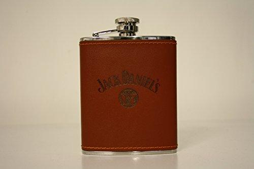 Jack Daniels Western Leather 6oz Hip Flask