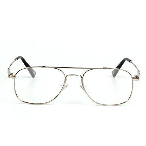 Liansan Brand Designer High Quality Retro Vintage Bifocal Reading Glasses Mens Eyeglasses L3695T(silver,+2.50) 3