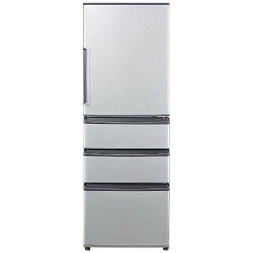 AQUA 【右開き】355L 4ドアノンフロン冷蔵庫 ミスティシルバー AQR-361E(S)