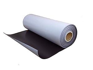 Feuille magnétique, adhésif, non revêtus, brun, 0,4mm x 0,62m x 1m, au mètre