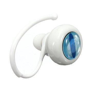 Mini Wireless Bluetooth Handsfree Stereo Headset For Samsung Galaxy S5 I9600 S4 S3 Note 2 3 (White)