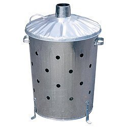 Galvanised Garden Incinerator Fire Bin Extra Holes Top Quality Bin By Highlands from Highlands