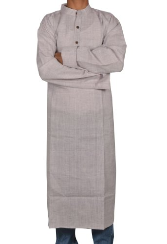 Mens Casual Cotton Khadi Long Kurta Fabric For Winter & Summers Size-7XL