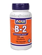 B2 100 mg 100 Capsules by NOW Foods