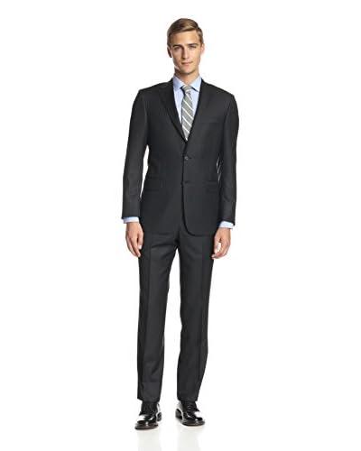 Hickey Freeman Men's Tonal Stripe Notch Lapel Suit