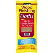 Minwax 308200000 Minwax Wood Stain & Finish Wipes-OAK WIPE STAIN CLOTH