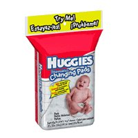 Huggies Changing Pads - Disposable, Case of 40 (5 packs of 8 pads)