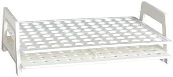 Nalgene 5973-9005 White Plastic 0.5mL Microcentrifuge Tube Rack, 96 Places