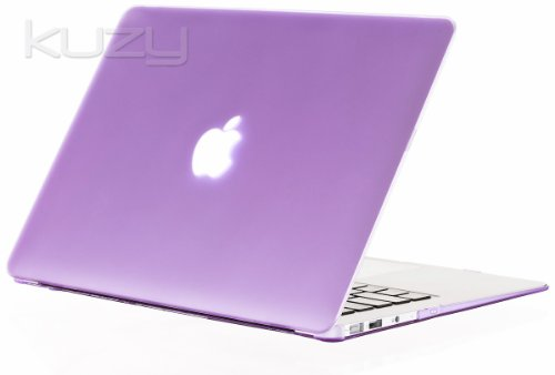 Best  Kuzy - AIR 13-inch Light PURPLE Rubberized Hard Case Cover SeeThru for Apple MacBook Air 13.3-inch (A1369 and A1466) - Light Purple