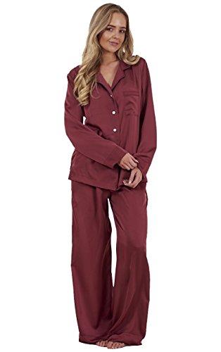 ladies-plain-satin-pyjamas-long-sleeve-nightwear-silk-pjs-full-length
