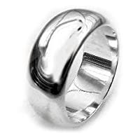 Solid Sterling Silver 8mm Wedding Band Ring(Sizes 5,6,7,8,9,10,11,12)