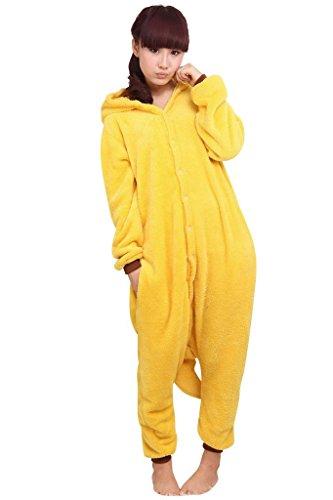 Trs-Chic-Mayo-Landa-Unisex-Adultos-Traje-de-dormir-Carnaval-Animales-Cosplay-Peluche-Capucha-Disfraz-Pikachu-Pikachu