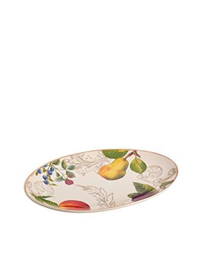 Bonjour Orchard Harvest Oval Platter