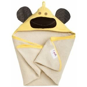 3 Sprouts Hooded Machine Washable Towel (Perfect Gift For Newborn Or Baby Shower) - Yellow Monkey Baby / Child / Infant / Kid