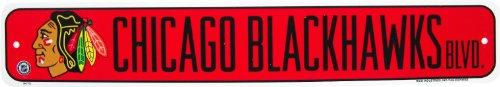 NHL Chicago Blackhawks Street Sign
