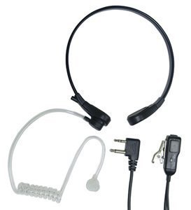 Midland AVPH8 Acoustic Throat Mic for GMRS Radios with PTT/VOX Compartment