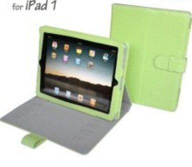 Apple iPad 1 Green PU Leather Multi-Angle Adjustable Stand / Carrying Case for Apple iPad 3G Wifi 16GB 32GB 64GB made by Gilsson (Green) SPECIAL INTRODUCTORY PRICE. Guaranteed The Best Case Stand for Your iPad!
