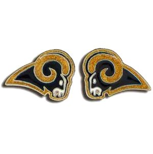 Studded Nfl Earrings - St. Louis Rams Studded Nfl Earrings - St. Louis Rams
