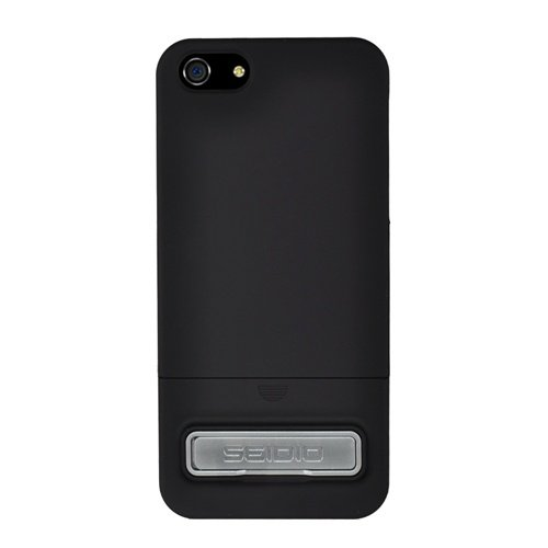 Seidio CSR3IPH5K-BK Surface Case with Metal Kickstand for Apple iPhone 5 - 1 Pack - Retail Packaging - Black (Iphone 5 Platinum Case compare prices)