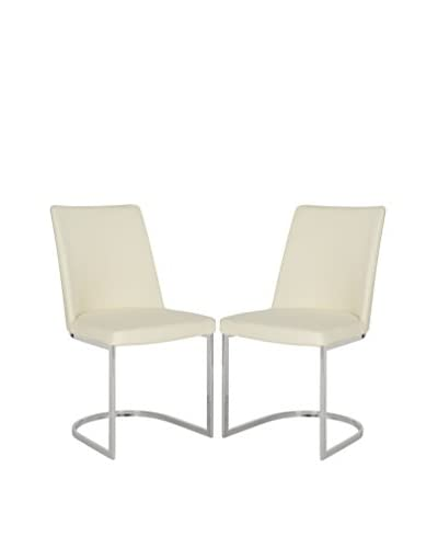 Safavieh Set of 2 Parkston Side Chairs, Buttercream