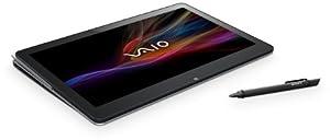 Sony VAIO SVF15N1E2ES 39,5 cm (15,5 Zoll Touch) Convertible Notebook (Intel Pentium 3556U, 1,7Ghz, 4GB RAM, 500GB HDD, Intel HD, Win 8) silber/metallic