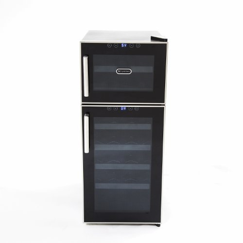 Whynter WC-212BD 21-Bottle Dual Temperature Zone Touch Control Freestanding Wine Cooler (Aluminum Wine Cooler compare prices)