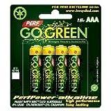 PerfPower Go Green AAA Alkaline Batteries 8 Pack