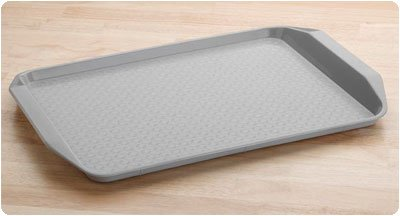 Tray With Handles, Gray
