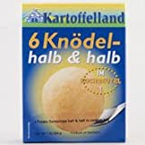 6 Knödel halb & halb im Kochbeutel - 6 Potato Dumplings - 7 oz 200 g - Product of... by Kartoffelland
