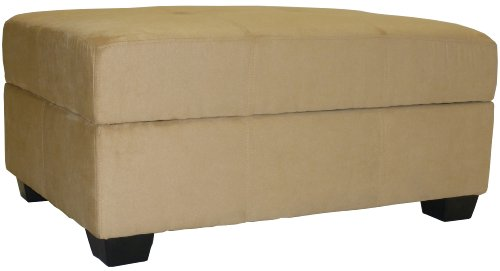Epic Furnishings 36 by 24 by 18-Inch Storage Ottoman Bench, Khaki