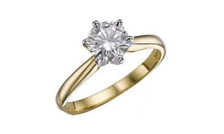 Moissanite 18ct Yellow Gold 1.25 Carat Solitaire Ring - Zoe Kay Jewellery