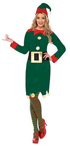 Smiffys Womens Green Elf Costume - Small / US Dress 6-8