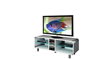 Triskom TV Stand for LCD, LED or Plasma Screens 32, 37,40,42,46,47,50,52 inch by SAMSUNG, LG, SONY, PHILIPS, TOSHIBA, PANASONIC, JVC. (White Gloss)