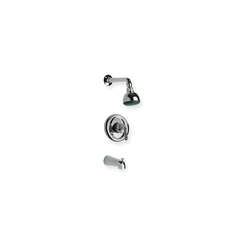 Metrohaus Pressure Balance Diveter Tub and Shower Faucet Finish Polished Chrome