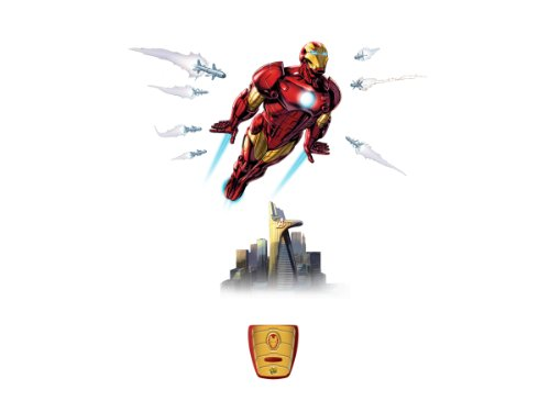 Uncle Milton Wild Walls Iron Man, Light and Sound Room Decor