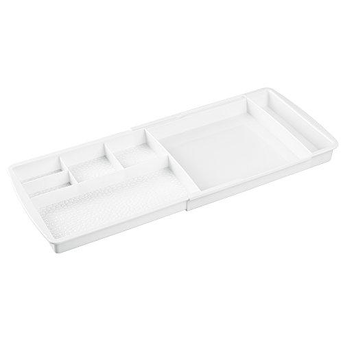 InterDesign 50851EU Rain Tiroir de Rangement Dépliable Plastique Blanc