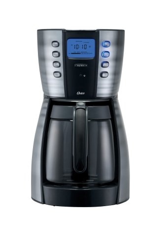 Oster 4281 Counterforms 12-Cup Coffeemaker, Black/Stainless Steel