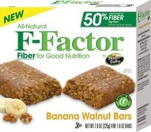 Health Valley Walnut Banana, F-Factor Cereal Bars (6x7.9 OZ)