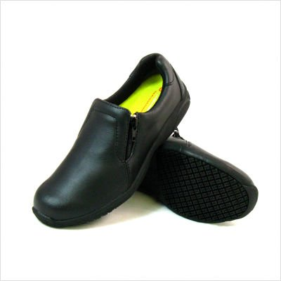 Women's Slip-Resistant Slip-on Casual Shoes in Black