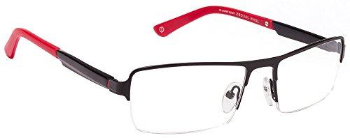 John Jacobs JJ 0030 Matte Black Red 1030 Eyeglasses(100613)