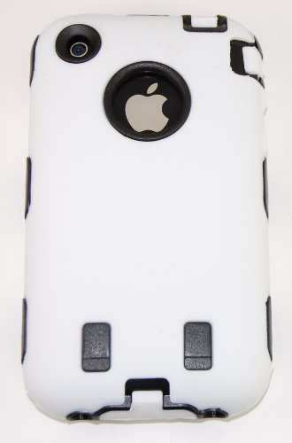 iphone 3gs white and black. KingCase iPhone 3G And 3GS * Warrior Case * White And Black 8GB, 16GB,