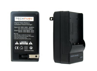 Sony Cybershot DSC-W230 Digital Camera Battery Charger - TechFuel® AC & DC Compatible Travel Battery Charger