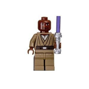 LEGO Star Wars Clone Wars LOOSE Mini Figure Mace Windu with Silver Lightsaber