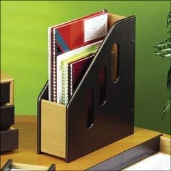 Osco Wooden Magazine File Black and Beech H315 x W99 x D275mm 181887