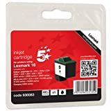 Brand New. 5 Star Compatible Inkjet Cartridge Page Life 410pp Black [Lexmark No. 16 10N0016E Equivalent]