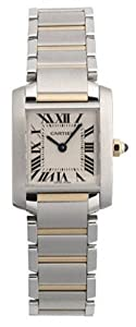 Cartier Women's W51007Q4 Tank Francaise Stainless Steel and 18K Gold Watch by Cartier